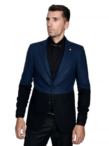 Papilio Garamas check suit jacket PS-900/12 blue black-black
