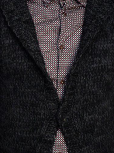 I'M BRIAN sleeveless cardigan MA80/312 grey-anthracite