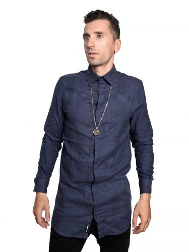 CHEAP MONDAY shirt 0336492-N52 navy blue-black