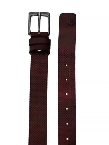 GAD ACCESSORIES leather belt B283/1 burgundy red