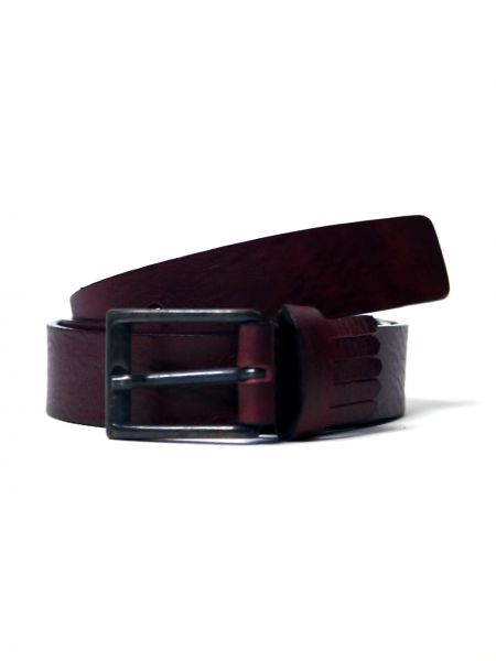 GAD ACCESSORIES leather belt B261/1/30 burgundy red