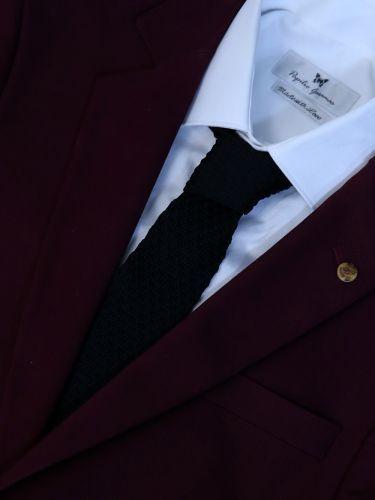 GAD ACCESSORIES πλεκτή γραβάτα PLTIEX16-15 μαύρη