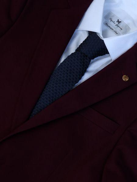 GAD ACCESSORIES πλεκτή γραβάτα PLTIEX16-13 γκρι