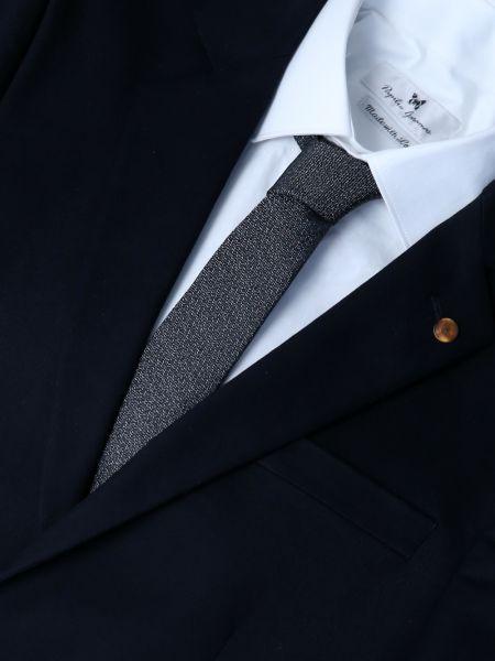 GAD ACCESSORIES γραβάτα PLTIEX16-06 ανθρακί-ασημί