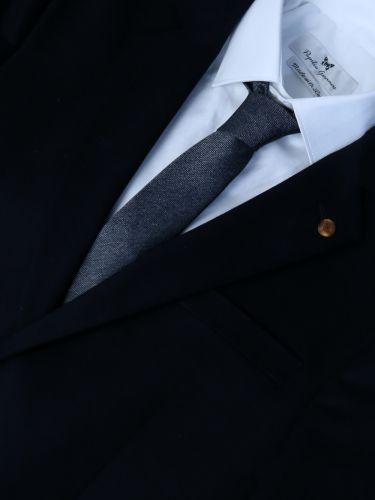 GAD ACCESSORIES γραβάτα PLTIEX16-09 ανθρακί-ασημί