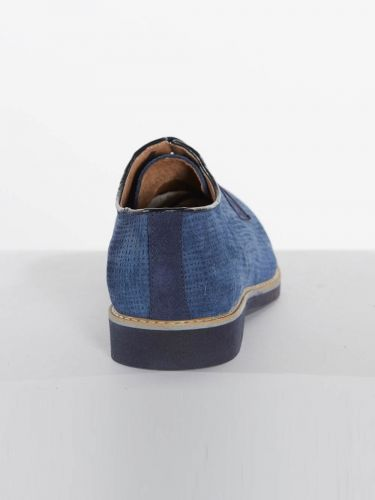 Philippe Lang suede shoes 1952/YUTA/U17 blue