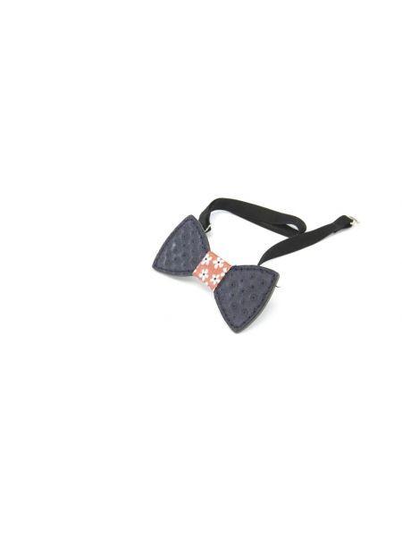 Gad Accessories δερμάτινο παπιγιόν LB56 μπλέ μαριν-κόκκινο ύφασμα