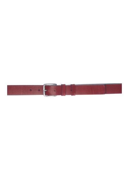 Gad Accessories δερμάτινη ζώνη B332/1 κόκκινο