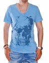 THE PROJECT T-shirt H02222CO754 V SKULL blue
