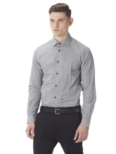 PAPILIO GARAMAS καρό πουκάμισο PG-600/1080 γκρι λευκό