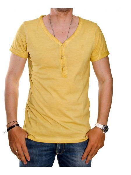 Trez T-shirt Stone M28626 κίτρινο