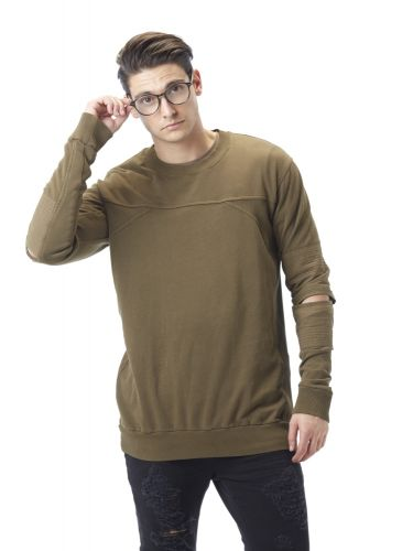 YES LONDON sweatshirt XMF3564 khaki
