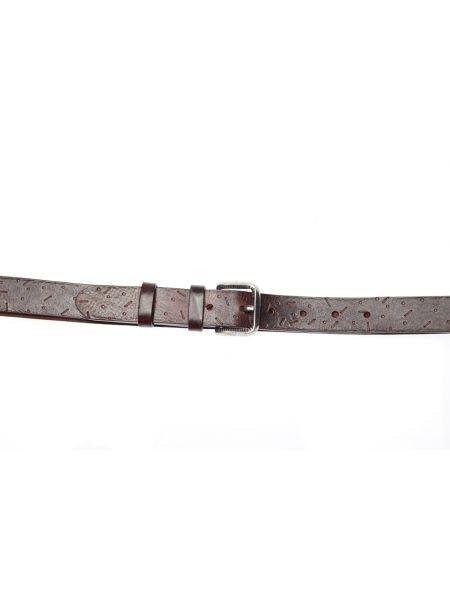 GAD ACCESSORIES leather belt B452/1 dark brown
