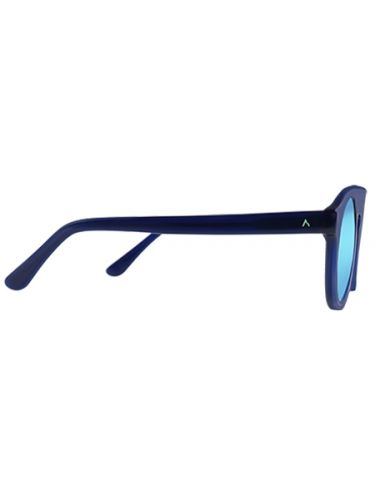 WEAREEYES sunglasses ATOM BLUE Blue skeleton-blue mirror lens