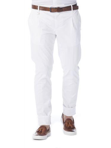 PAPILIO GARAMAS chino παντελόνι PP-195000/16 λευκό