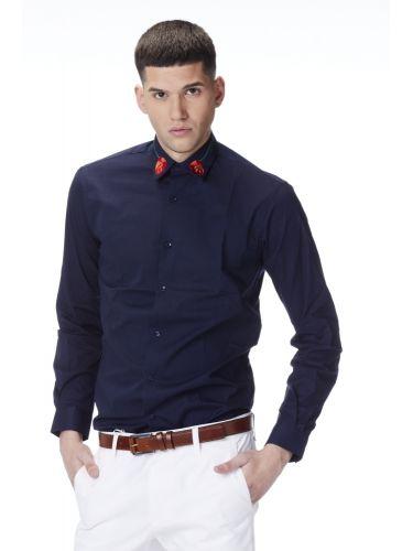 PAPILIO GARAMAS πουκάμισο PGBR-400/NAVY μπλε μαρίν