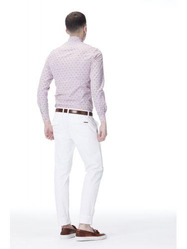 BRAND NAME πουκάμισο ριγέ BNB-600/15 λευκό-κόκκινο