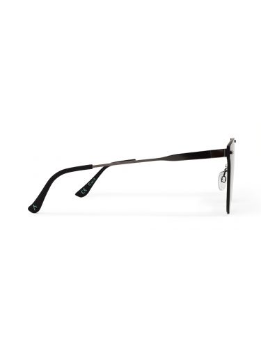 WEAREEYES sunglasses SHARP Anthracite skeleton-black mirror lens