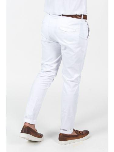 VITTORIO ARTIST chino παντελόνι REGGIO λευκό