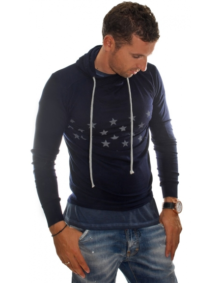 Red Soul sweater 232-010179 blue with stars