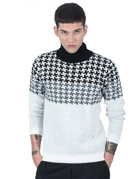 BESILENT MAN μπλούζα ζιβάγκο BSMA0222 λευκή