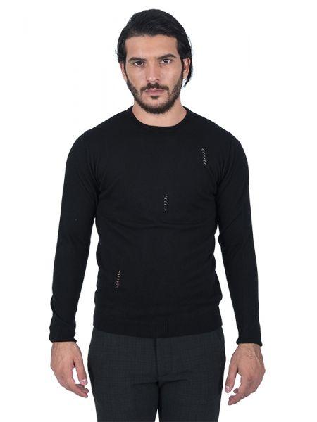 BESILENT MAN μπλούζα πλεκτή BSMA0246 μαύρη