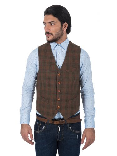 XAGON MAN vest P17302 brown