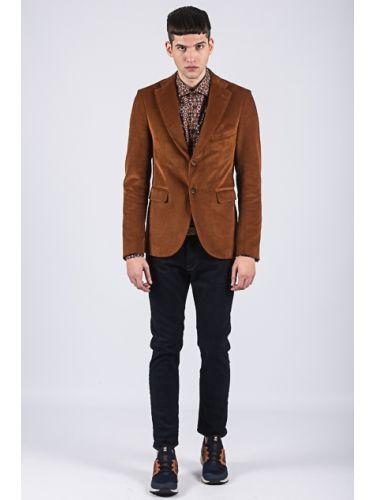 PAPILIO GARAMAS corduroy jacket SPG-400/007 brown