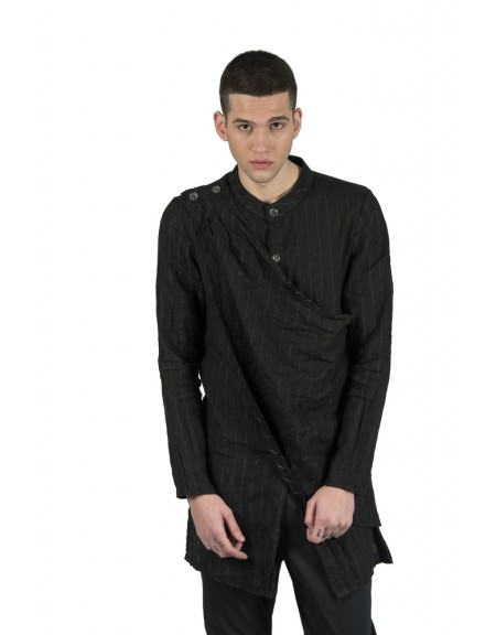 LA HAINE πουκάμισο BFLAVO μαύρο