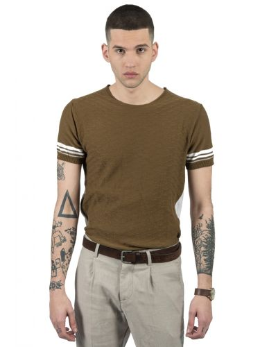 BESILENT MAN t-shirt BSMA0292 olive-white