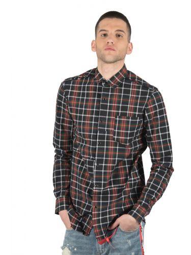 OUTCOME πουκάμισο OT231Z μαύρο