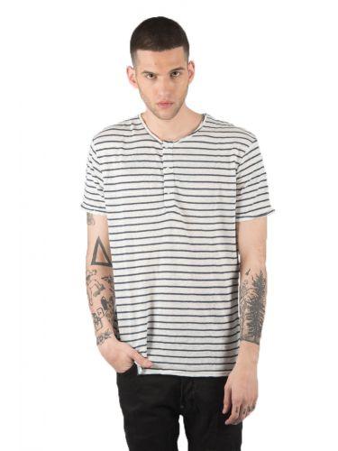 SURPLUS MAN t-shirt SW19265 off white-μπλε
