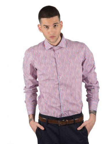 BESILENT MAN πουκάμισο BSCA0153 μπλε-κόκκινο