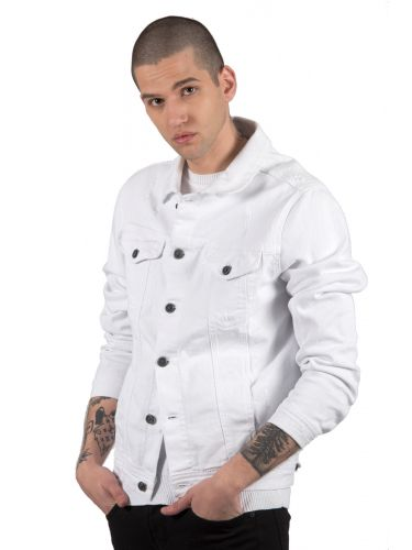 BLACK CIRCUS jean jacket GBU1736 λευκό