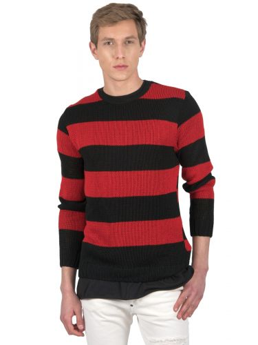 BLACK CIRCUS μπλούζα BC902 κόκκινη-μαύρη