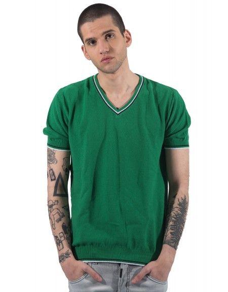 GIANNI LUPO t-shirt νημάτινo BW625 πράσινo