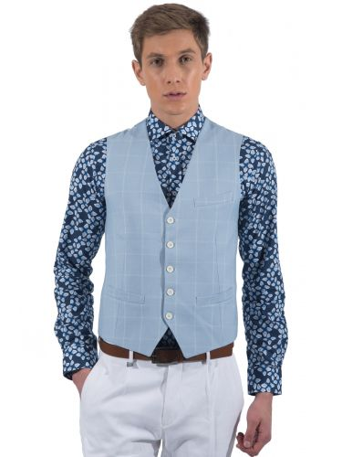 PAPILIO GARAMAS vest PGL-100/42 light blue