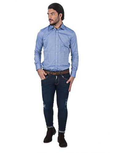 PAPILIO GARAMAS πουκάμισο PG-600/2645 μπλέ