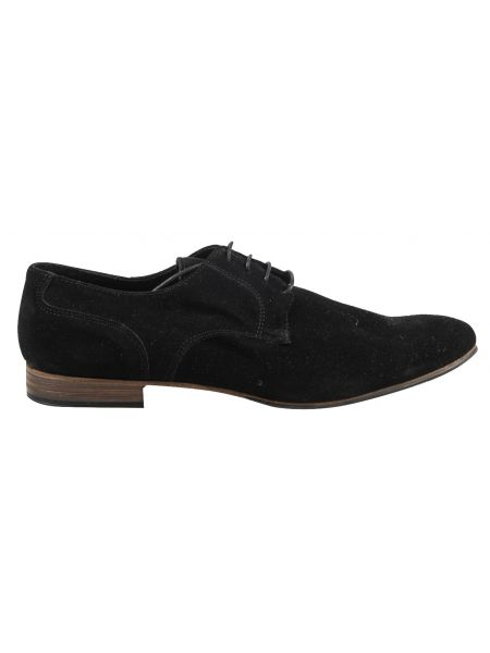 YES LONDON leather shoe GN11-CAMOSCIO black