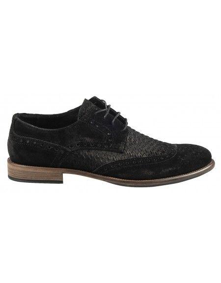 YES LONDON leather shoe CM02-CAMOSCIO 352 black