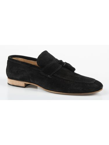 YES LONDON suede shoe CRV08-CAMOSCIO black