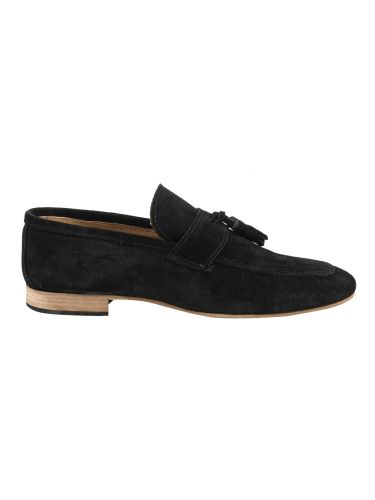YES LONDON suede παπούτσι CRV08-CAMOSCIO μαύρο