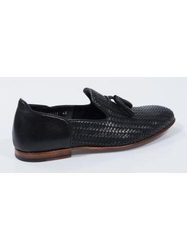 FAR UK δερμάτινο slip-on 19SSH0085 μαύρο
