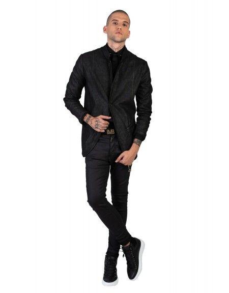 LA HAINE σακάκι 3B BROWN μαύρο