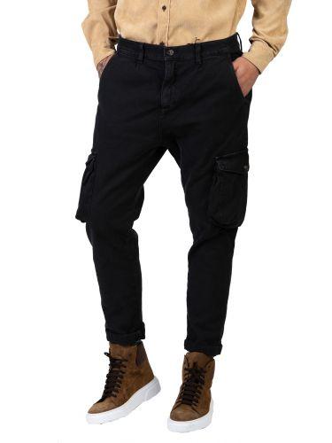 XAGON MAN cargo παντελόνι CR7203 μαύρο