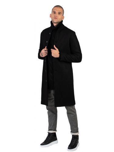 LA HAINE παλτό 3B RADICAL μαύρο