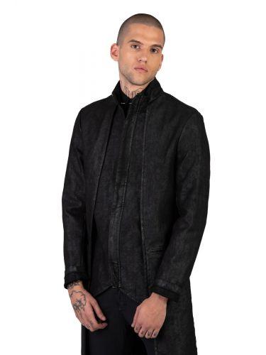 LA HAINE παλτο 3B PRESS μαύρο