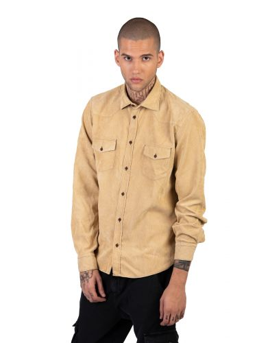 XAGON MAN πουκάμισο κοτλέ AREESV μπεζ
