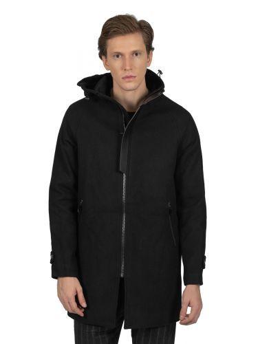 OUTCOME παλτό OT9315B μαύρο