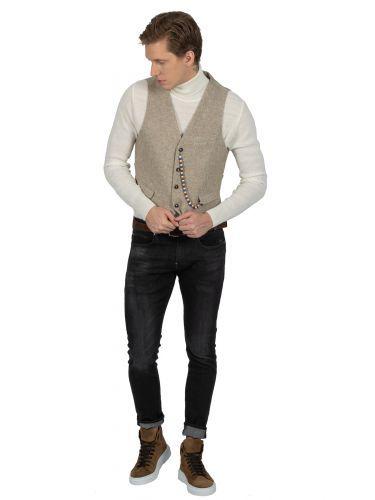 BESILENT MAN vest BSPC0029 beige
